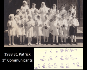 1933 1st communicants