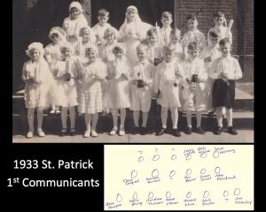 1933 1st communicants